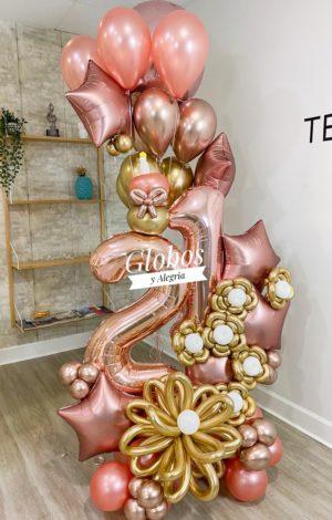 Bouquet Alysson globosyalegria.com ballons bouquet southern California