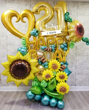 Bouquet Amazing Sunflower globosyalegria.com ballons bouquet southern California