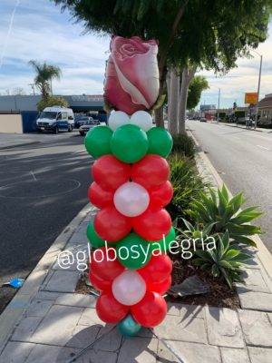 Column Flower globosyalegria.com ballons bouquet southern California