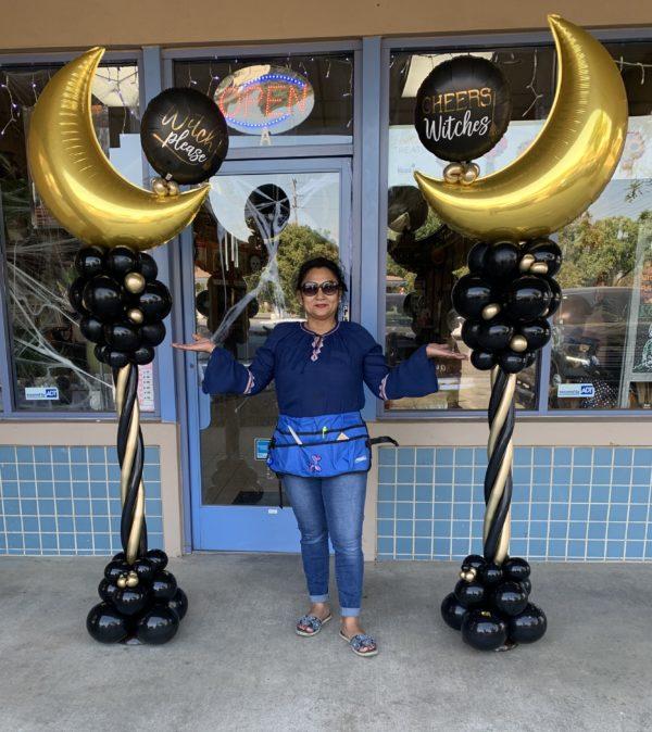 Moon Columns globosyalegria.com ballons bouquet southern California